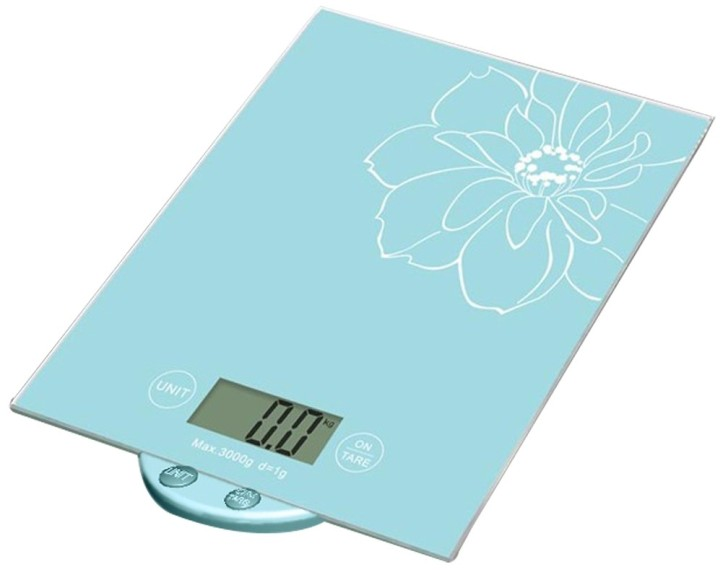 Light blue colour glass scale. Flat sheet style scale.