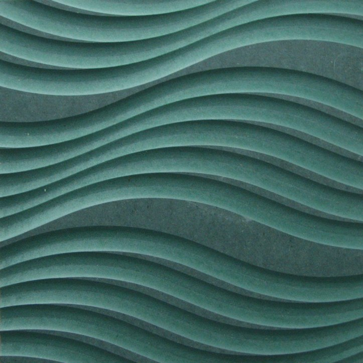 A large, irregular, curvy wave design.